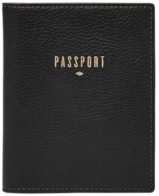 Fossil Rfid Passport Case Accessories Black