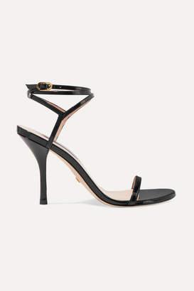 Stuart Weitzman Merinda Patent-leather Sandals - Black