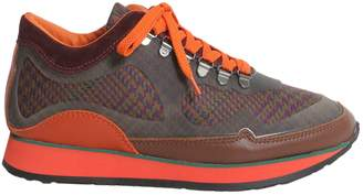 Etro Leather And Woven Sneakers