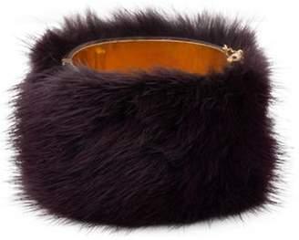 Celine Fur Cuff Gold Fur Cuff