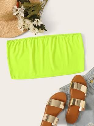 Shein Plus Neon Lime Tube Top