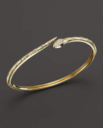 Bloomingdale's Black and White Diamond Snake Bracelet in 14K Yellow Gold - 100% Exclusive