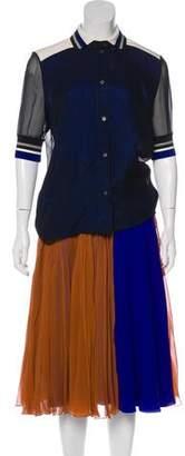 Bouchra Jarrar Silk-Blend Skirt Set