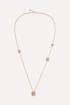 de GRISOGONO - Allegra 18-karat Rose Gold Diamond Necklace