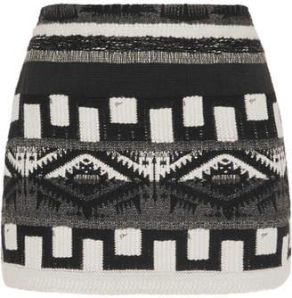 Alice + Olivia Elana Jacquard Mini Skirt - Black
