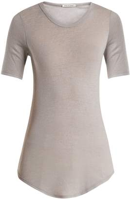 FRANCES DE LOURDES Hardy round-neck cashmere and silk-blend T-shirt