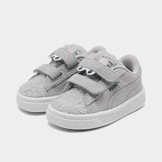 Puma Girls' Toddler Suede Winter Monster Hook-and-Loop Casual Shoes
