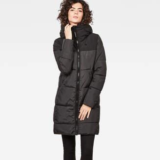 G Star Whistler Hooded Quilted Slim Long Coat