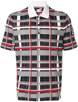 Moncler checked polo shirt