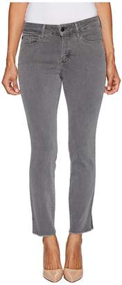 NYDJ Petite Petite Ami Skinny Ankle Jeans w/ Fray Side Slit in Vintage Pewter Women's Jeans