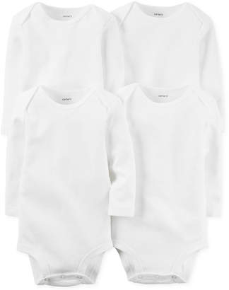 Carter's Carter Baby Boys' or Baby Girls' 4-Pack Solid Bodysuits