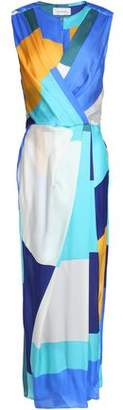 Zimmermann Wrap-Effect Printed Silk Midi Dress