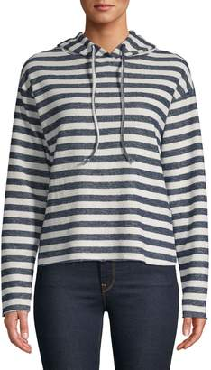 Bassike Striped Cotton-Blend Hoodie