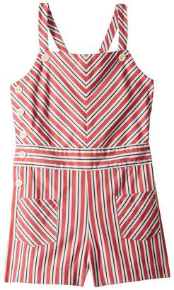 Polo Ralph Lauren Striped Bow-Back Cotton Romper Girl's Jumpsuit & Rompers One Piece