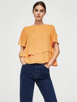 MANGO Maracuya Blouse - Orange