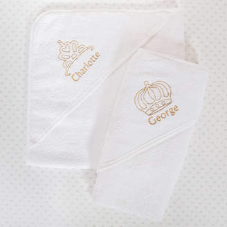 Babyblooms Personalised Royal Hooded Baby Towel