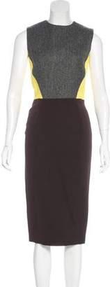 Victoria Beckham Color Block Sheath Dress w/ Tags