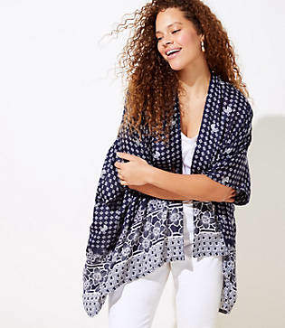 LOFT Plus Paisley Kimono