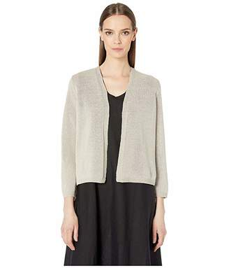 Eileen Fisher Recycled Cotton Shine Cropped Cardigan