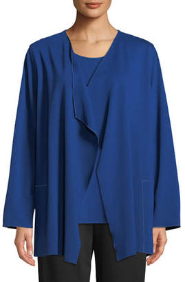 Caroline Rose Ponte Luxe Saturday Jacket w/ Pockets, Petite