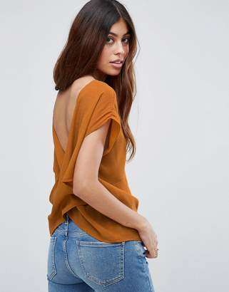 ASOS Tee with Cowl Back $45 thestylecure.com