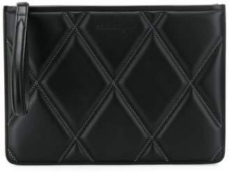 Salvatore Ferragamo diamond quilt clutch bag