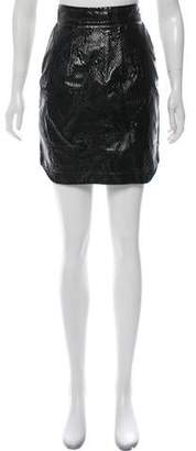 Camilla And Marc Embossed Mini Skirt