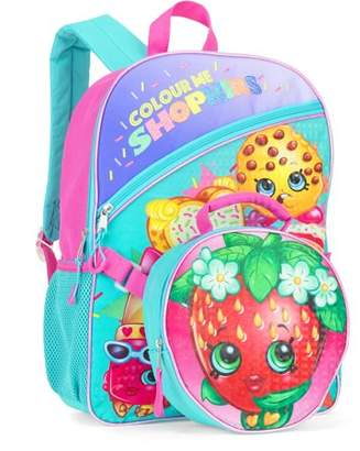"""Strawberry Shopkins 16"""" Full-Size Backpack With Detachable Lunch Bag"""