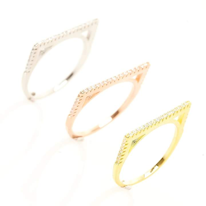Silver Addict Triolia - Ring aus Silber - dreifarbig