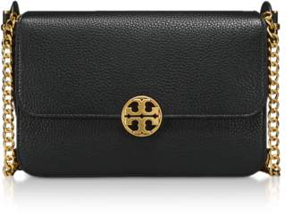 Tory Burch Black Pebble Leather Chelsea Crossbody Bag