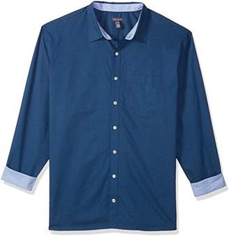 Van Heusen Men's Size Big and Tall Wrinkle Free Non Iron Long Sleeve Shirt