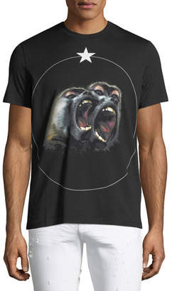 Givenchy Monkey Brothers Graphic Cuban-Fit T-Shirt