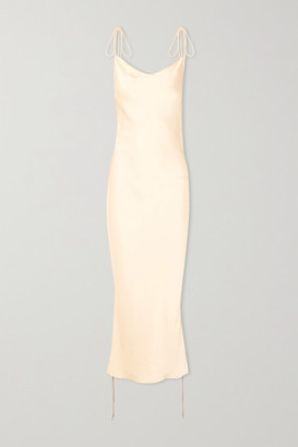 Orseund Iris - Ruched Satin Dress - Cream