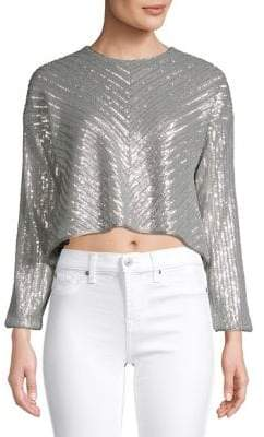 Saylor Sequin Long-Sleeve Top