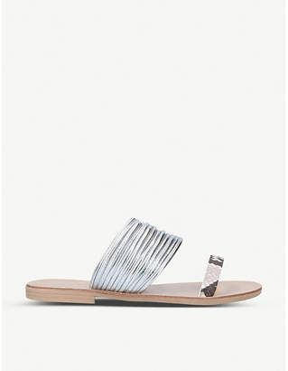 Kurt Geiger Rilson metallic faux-leather sandals