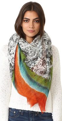 Franco Ferrari Paisley with Frame Scarf $278 thestylecure.com