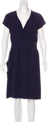 Brian Reyes Short Sleeve Knee-Length Dress