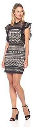 Ark & Co Women's Ruffle Sleeve Lace Shift Dress