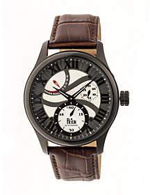Reign Bhutan Automatic Watch - Black/Brown