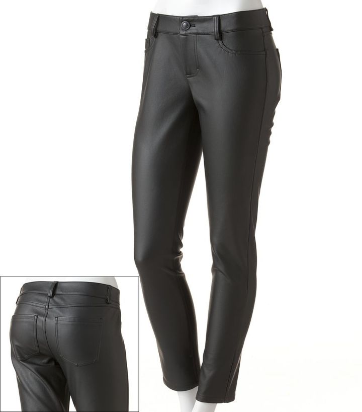 Lauren Conrad skinny faux-leather pants