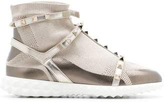 Valentino Rockstud panelled sneakers