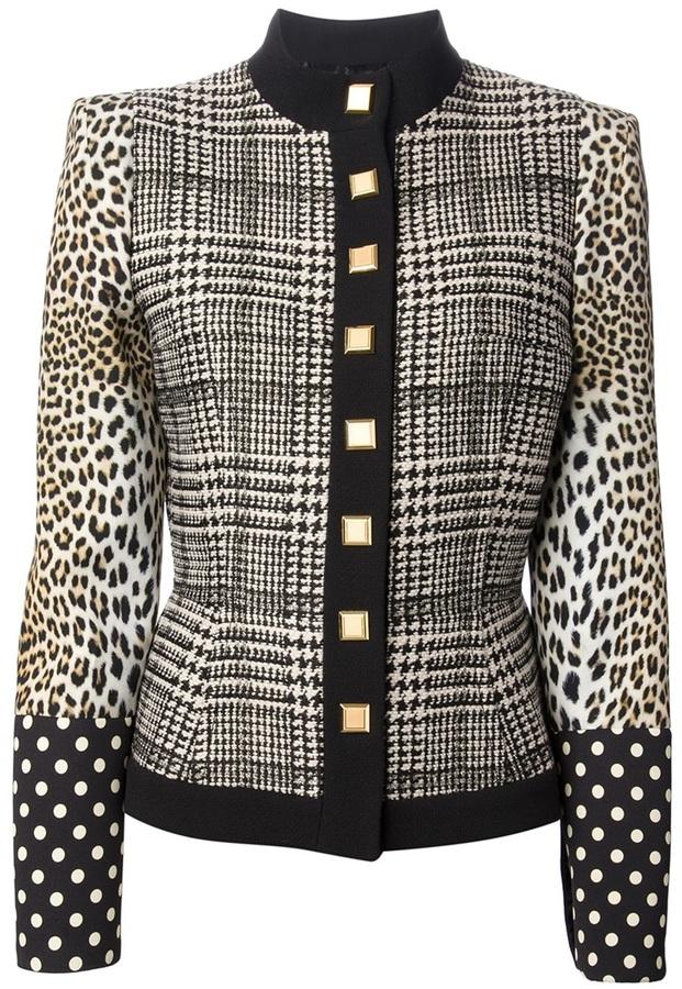 Ungaro contrasting patterned jacket