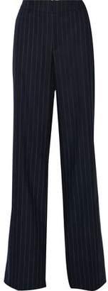 Pierre Balmain Striped Wool-Blend Wide-Leg Pants