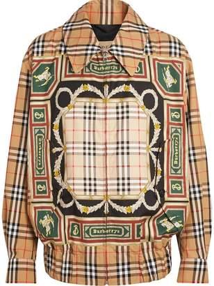 Burberry Archive Scarf Print Harrington Jacket