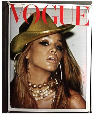 Kenneth Jay Lane Italian Vogue/February 2017 -Gold Baroque Pearl And Pave Ball Necklace