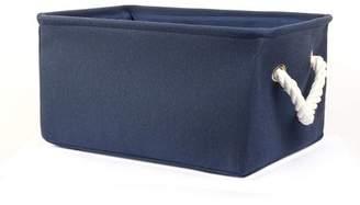Unique Bargains Collapsible Storage Basket Bin Toys Organizer Box Fabric Basket Gray XL Size
