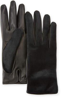 Salvatore Ferragamo Leather & Calf Hair Gloves