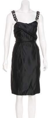 Thomas Wylde Embellished Satin Dress