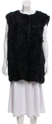 Etoile Isabel Marant Leather Fur Vest w/ Tags