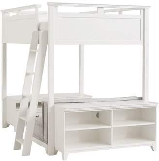 Pottery Barn Teen Hton Loft Set With Cushy & Base, Full, Denim w/ Simply White Base